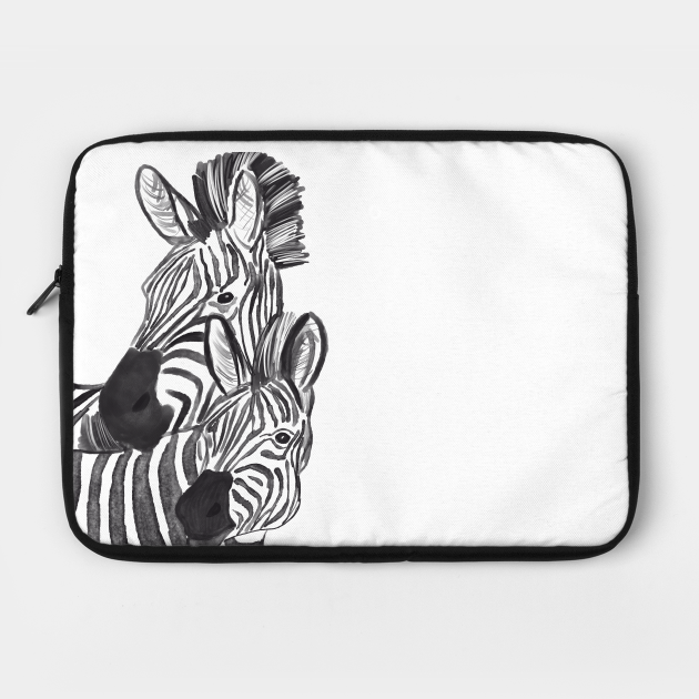 Zebra couple animal wild art unique design