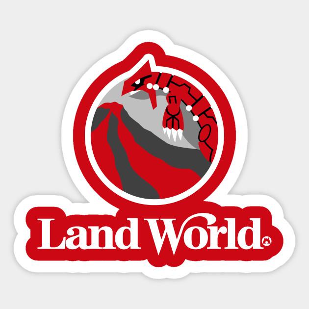 Land World Team Magma Sticker Teepublic