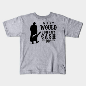 000ff7f4e4a Johnny Cash Kids T-Shirts