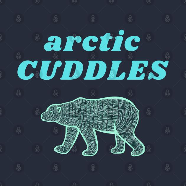 Arctic Cuddles, Sweet Polar Bear Hug Design