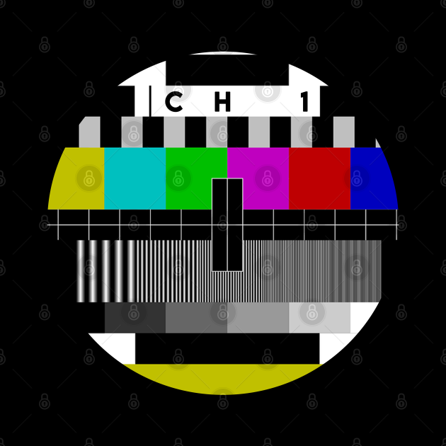 Old school tv test pattern