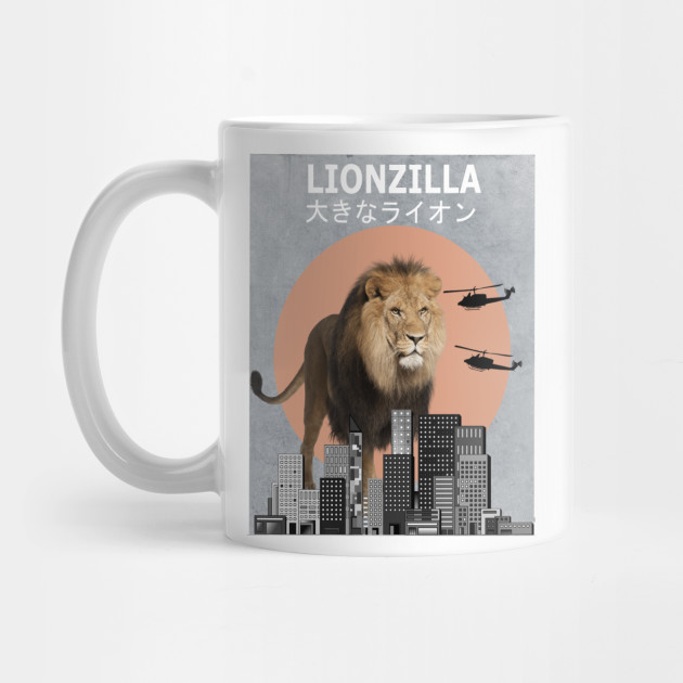 af5279231c8 Lionzilla Lion Funny Animal T-Shirt Lover Gift - Lion - Mug