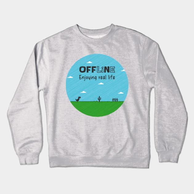 6bcee1deadc054 Offline - Kawaii - Crewneck Sweatshirt