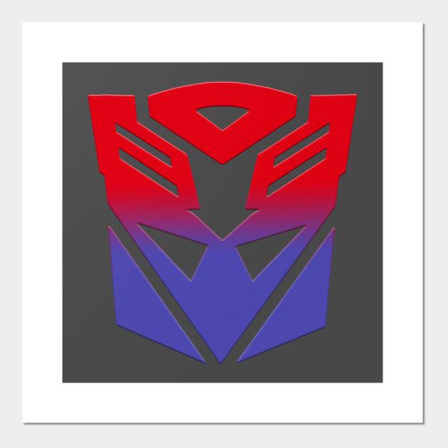 Autobot Decepticon Symbol Fusion Transformers Posters And Art
