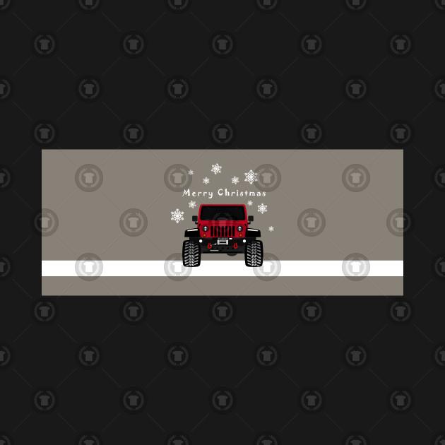 Christmas Jeep.Jeep Merry Christmas