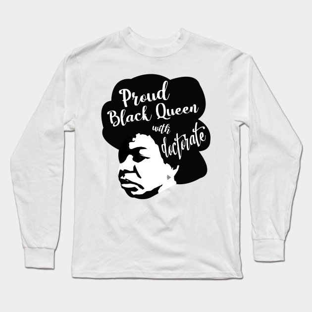 c640e950 Strong Black Woman Afro Tee - Black Woman - Long Sleeve T-Shirt ...