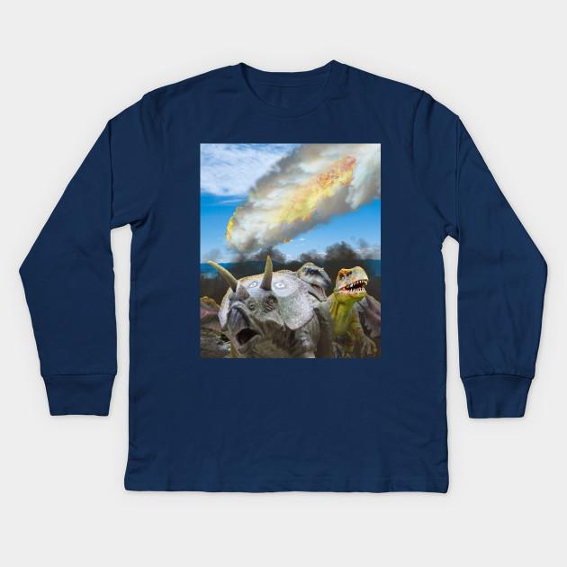 Dinosaur T-Rex On A Leash Navy Adult T-Shirt