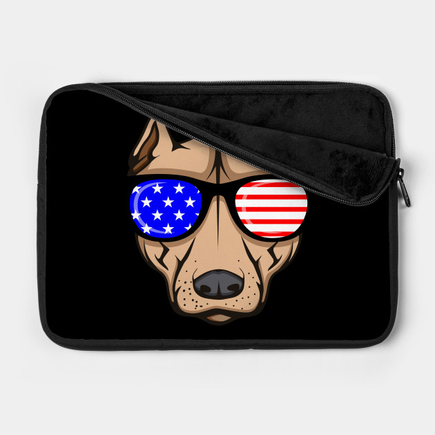 USA Memorial Day Dog With Glasses America Gift