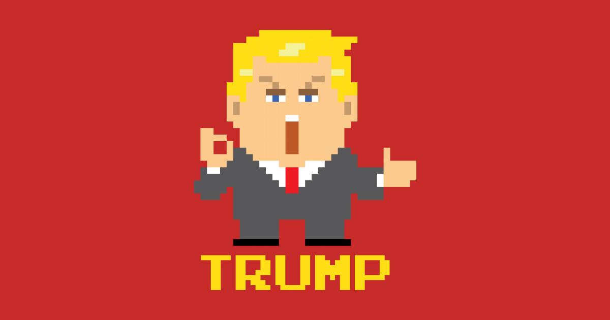 President Trump Pixel Character Donald Trump Mug