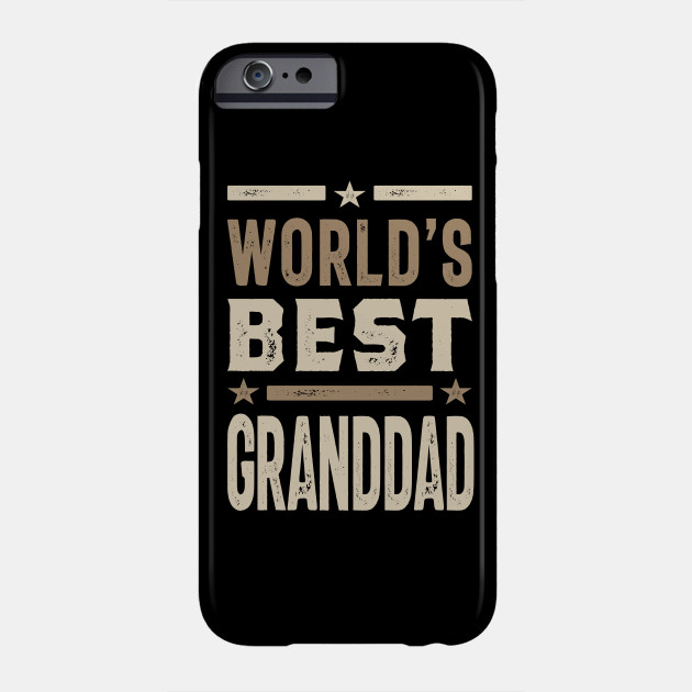 Mens World's Best Granddad Grandpa Gift Phone Case