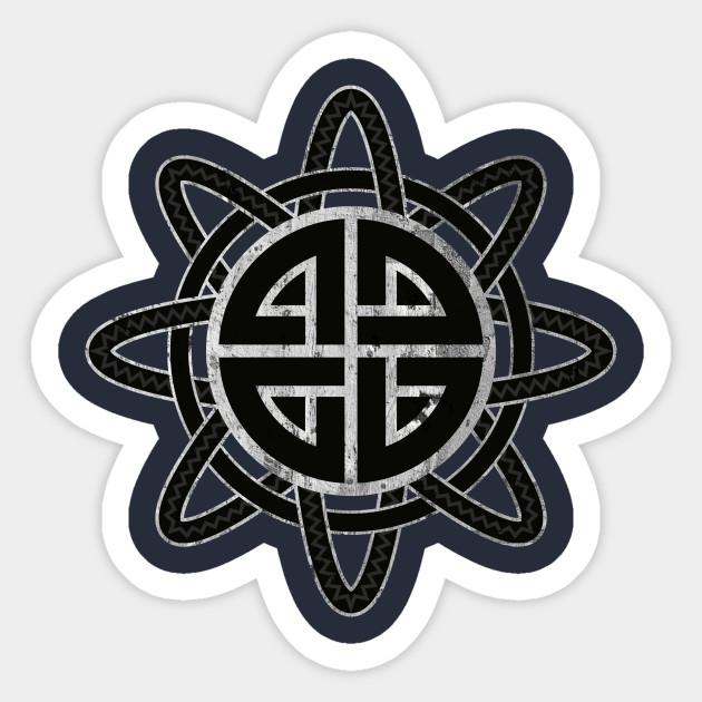 Shield Knot Norse Protection Symbol Sticker Teepublic