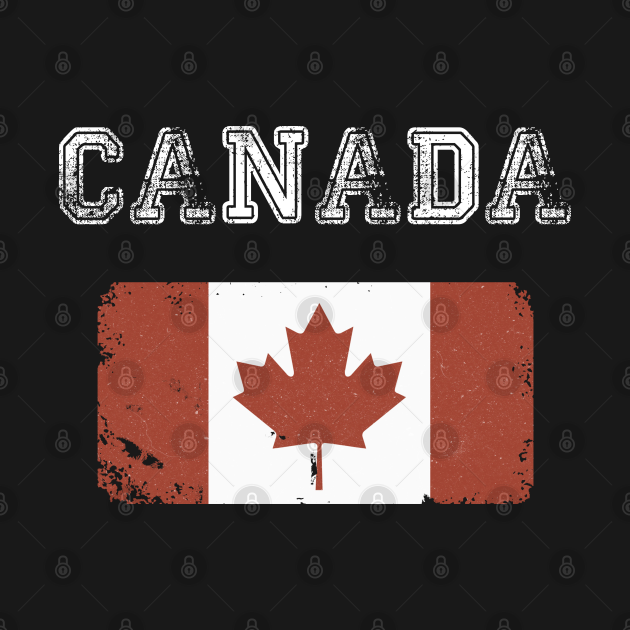 Vintage Canada Flag Canada Day Vintage Style
