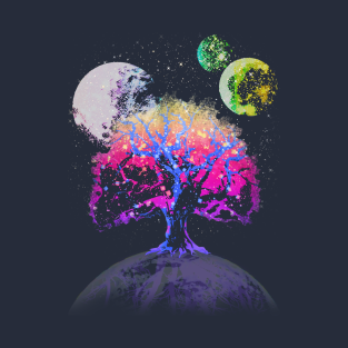 Space Tree of Life t-shirts