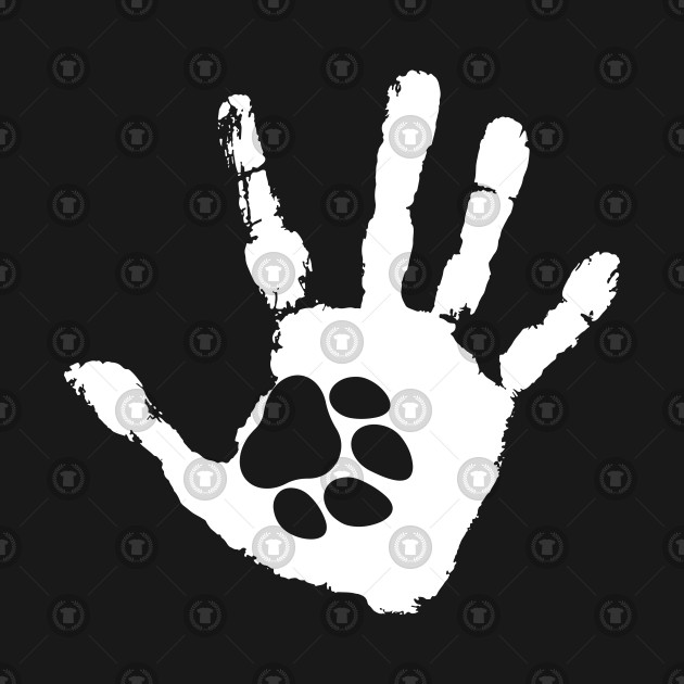 Dog and Paw Print