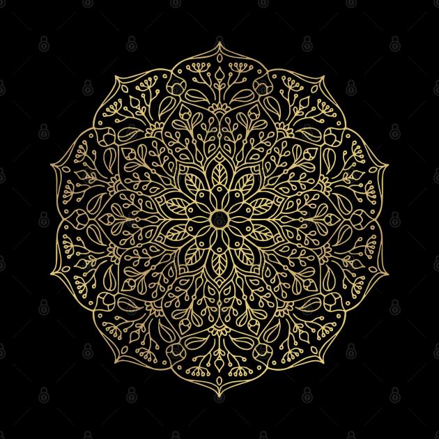 Nature Mandala in Gold