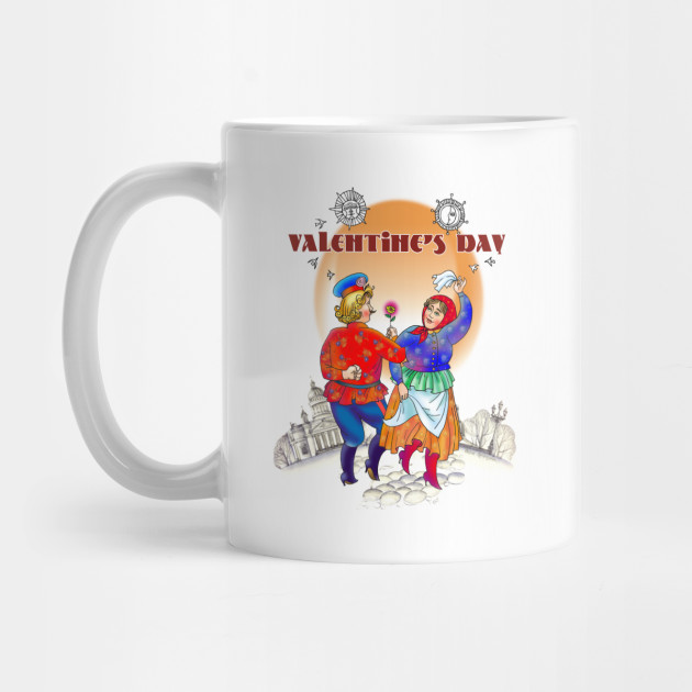 Fun Couple Dance Colorful Valentine's Day Design Mug