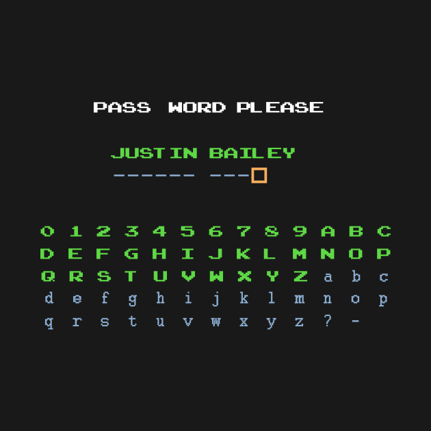 Metroid - Justin Bailey Password