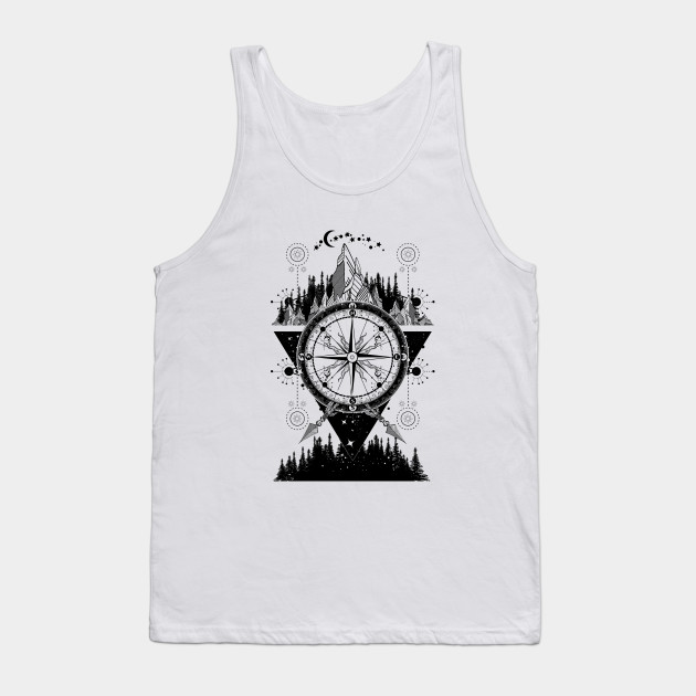 f35410704f5aa Mountains and compass - Mountain - Tank Top