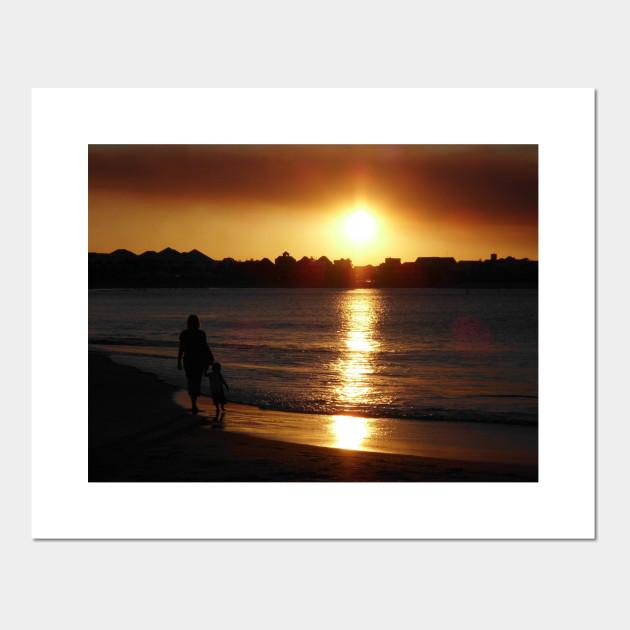 Australia Sunset Foto Taza