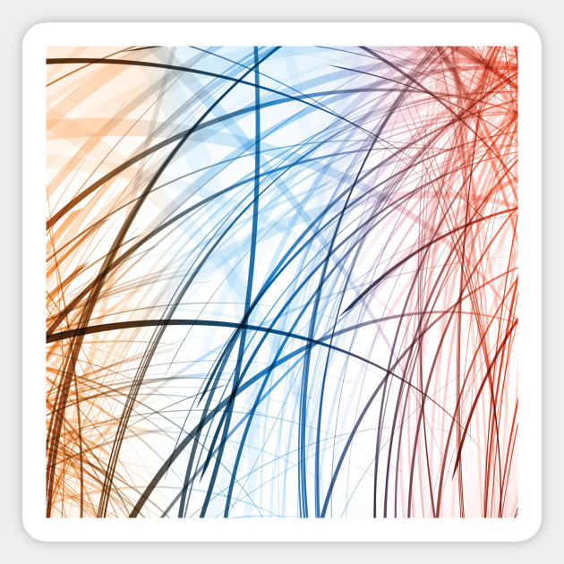 Blue And Red Lines Abstract Art