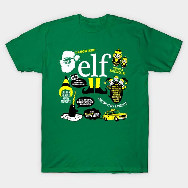 buddy the elf quotes t shirt elf t shirt teepublic. Black Bedroom Furniture Sets. Home Design Ideas
