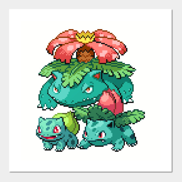 Grass Pokemon Pixel Art Pokemon Posters And Art Prints Teepublic