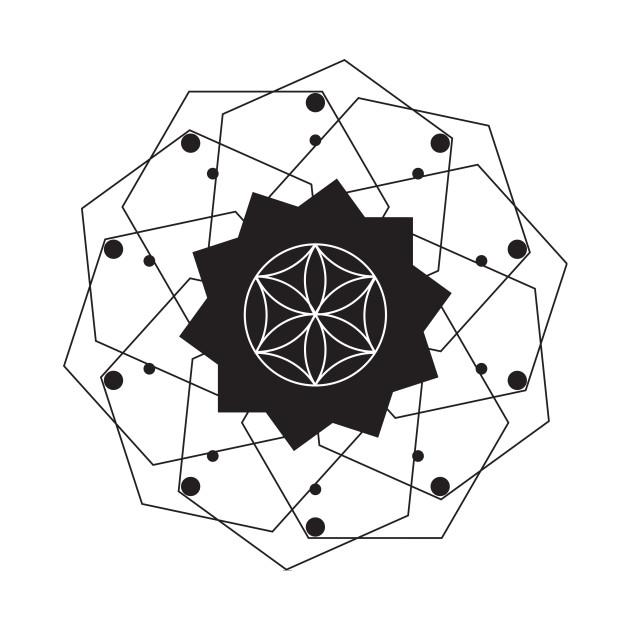 Geometric Flower Art