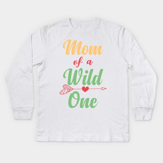 Dad Mom Wild One Matching Family Boho Birthday Shirts Kids Long Sleeve T Shirt