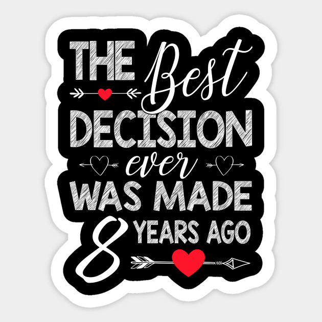 8th Wedding Anniversary Shirt For Couple 8th Wedding Anniversary Gifts Sticker Teepublic Uk