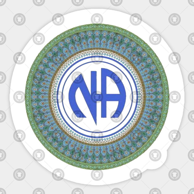 A Narcotics Anonymous or NA decals or stickers vinyl cut Recovery or Sobriety