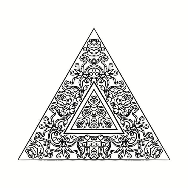 c428f00386ca3 Triangle Mandala - Black And White Mandala - T-Shirt | TeePublic