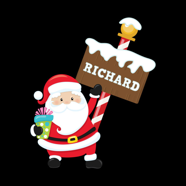 Richard Custom Name Santa Claus Christmas Gift