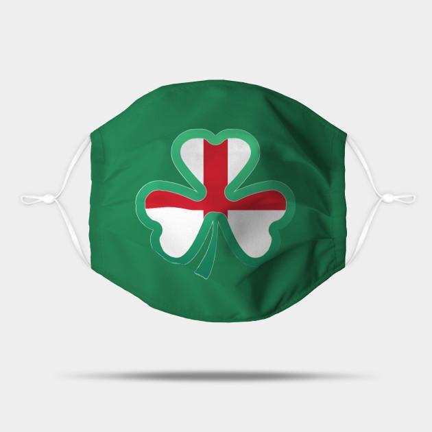 England Flag for st patricks day, Irish Shamrock