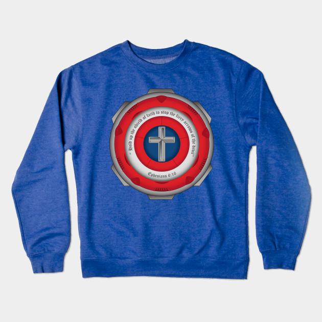 566e438986d2 Captain Shield of Faith - Captain America - Crewneck Sweatshirt ...