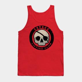 547a2452640b6f Savage Lifting Club Skull Badge Tank Top