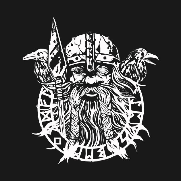 odin shirt featuring huginn and muninn viking t shirt teepublic
