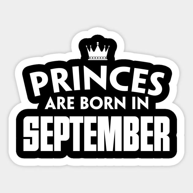 September T Shirts Birthday For Girl Women Sticker
