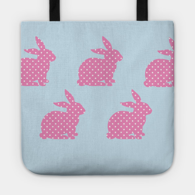 Pink Bunny Wallpaper Tote