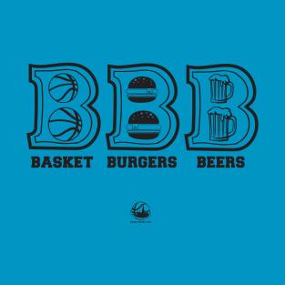 Basket Burgers Beers t-shirts