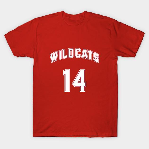 9c4e16db3a2 Troy Bolton 14 East High School Wildcats Basketball Team 2 T-Shirt