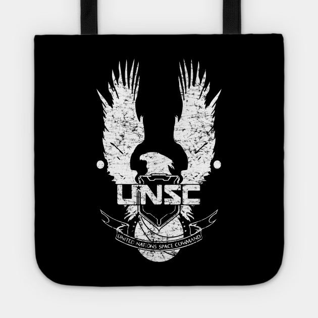 Unsc Logo Halo 4 Grunt Distressed Look Unsc Logo Halo 4 Tote