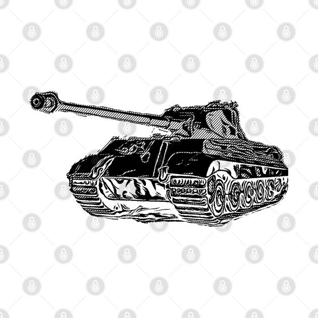 Tiger II German Heavy Tank WW2 Panzer Armored
