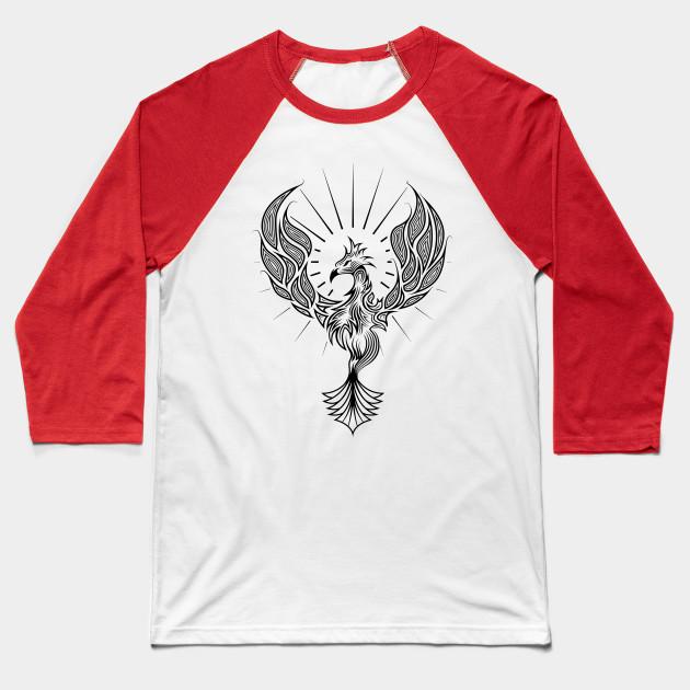 106c40d5f Phoenix Tribal Tattoo Design - Tribal - Baseball T-Shirt | TeePublic