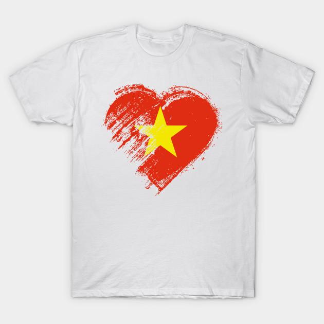 Grungy I Love Vietnam Heart Flag Vietnam T Shirt Teepublic