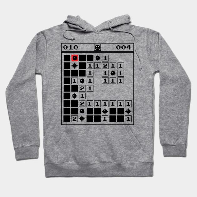 0de9887f Minesweeper Vintage Gaming 90s Old School - Vintage - Hoodie | TeePublic