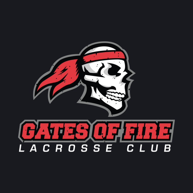 Gates of Fire Lacrosse Club Red Weathered Logo