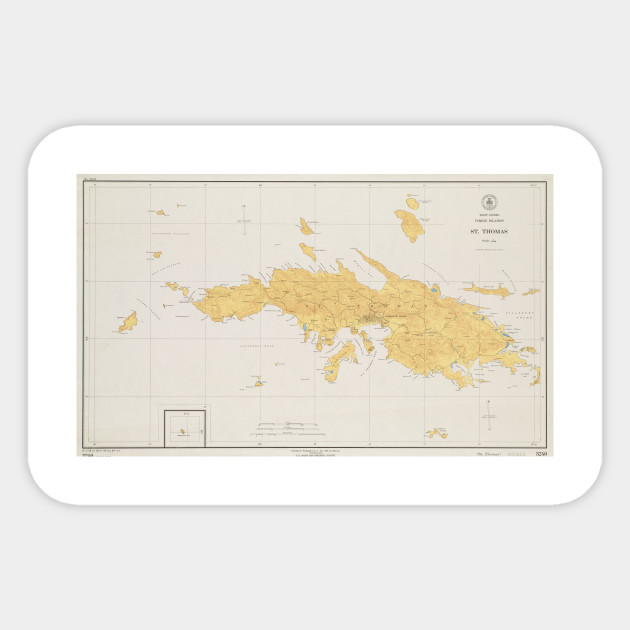 Vintage Map of St Thomas (1922)
