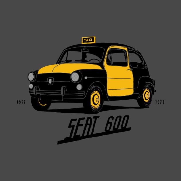 Seat 600 vintage BCN taxi