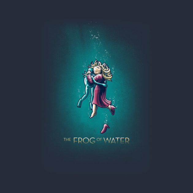 The frog of water
