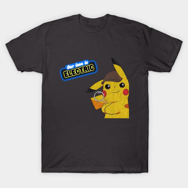 cc7405d4 Leaning Detective Pikachu (V2) - Pikachu - T-Shirt | TeePublic